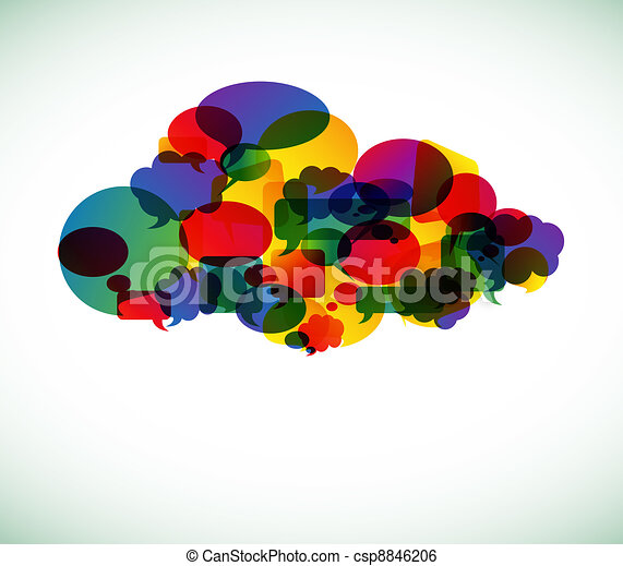 Cloud computing - vector illustration - csp8846206