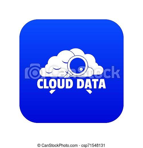 Cloud data icon blue - csp71548131