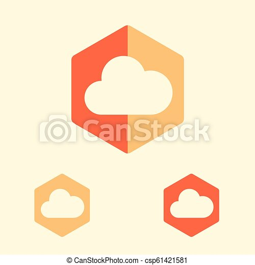 cloud database vector icon in flat design style