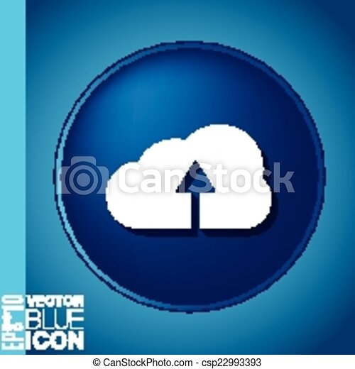 cloud download. icon download files - csp22993393
