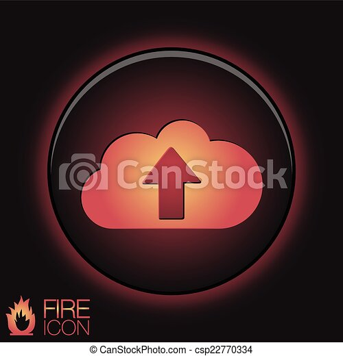 cloud download. icon download files - csp22770334