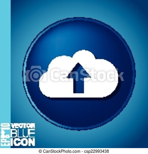 cloud download. icon download files - csp22993438