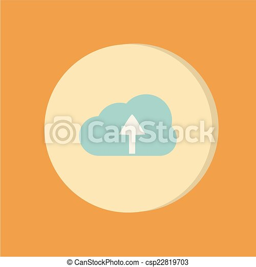 cloud download. icon download files - csp22819703