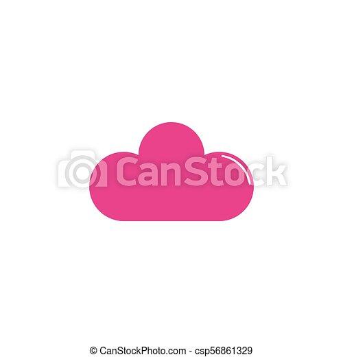 Cloud flat icon - csp56861329