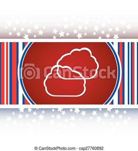 Cloud green icon button - csp27760892