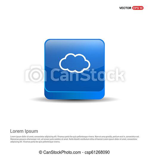 cloud Icon - 3d Blue Button - csp61268090