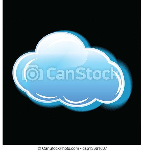Cloud icon application logo vector - csp13661807