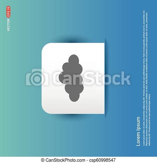 cloud Icon - Blue Sticker button - csp60998547