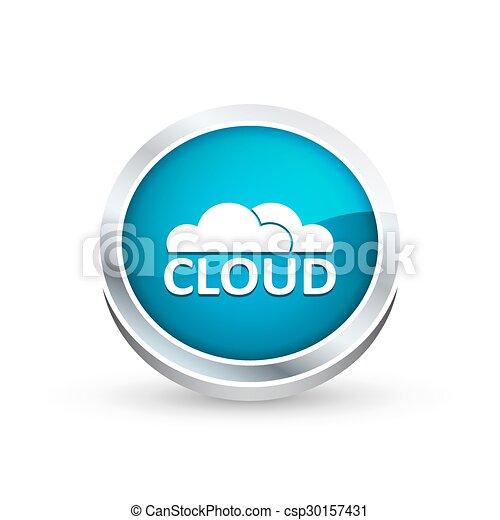 Cloud icon, button - csp30157431