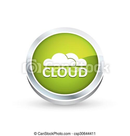 Cloud icon, button - csp30644411