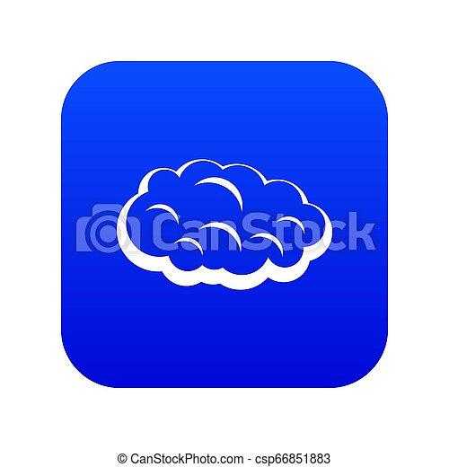 Cloud icon digital blue - csp66851883