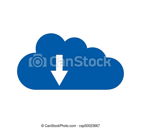 Cloud icon download - csp50023667