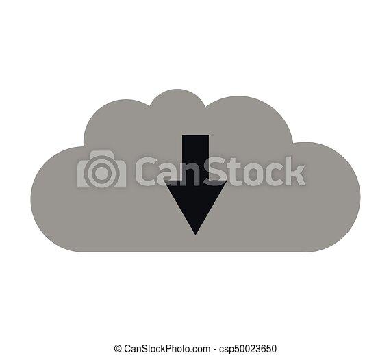 Cloud icon download - csp50023650