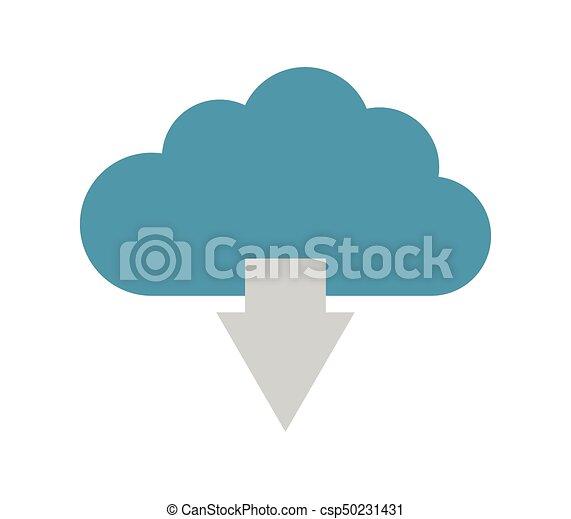 cloud icon download - csp50231431