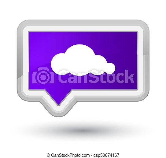 Cloud icon prime purple banner button - csp50674167