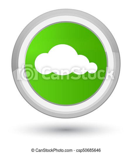 Cloud icon prime soft green round button - csp50685646