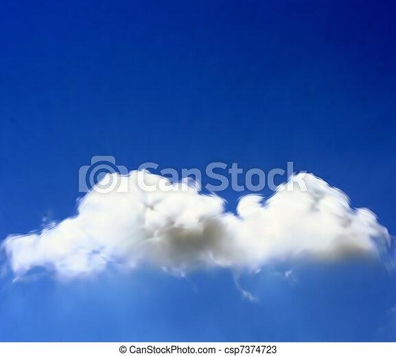 Cloud In The Sky. Vector - csp7374723