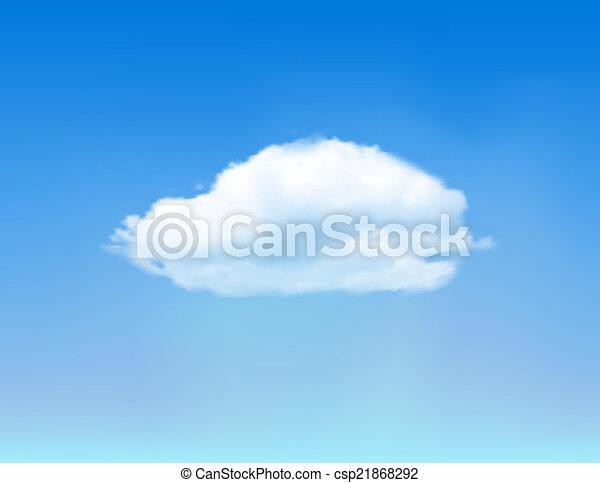 Cloud on blue sky. - csp21868292