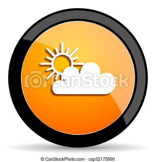 cloud orange icon - csp32175690