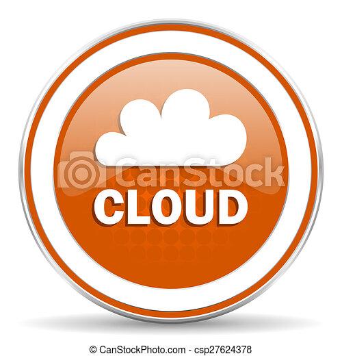 cloud orange icon - csp27624378