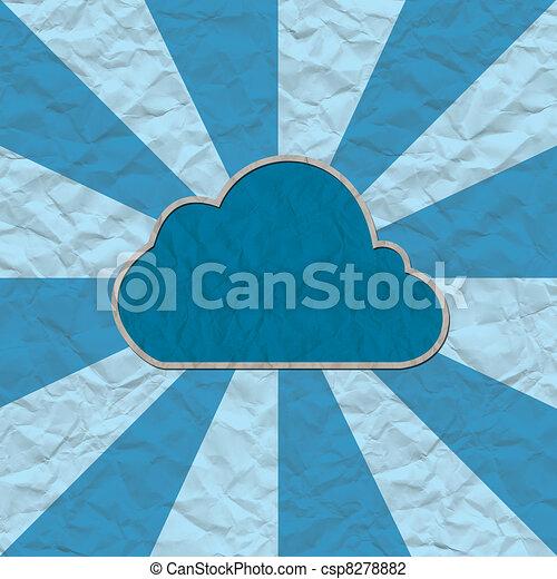 cloud paper craft - csp8278882