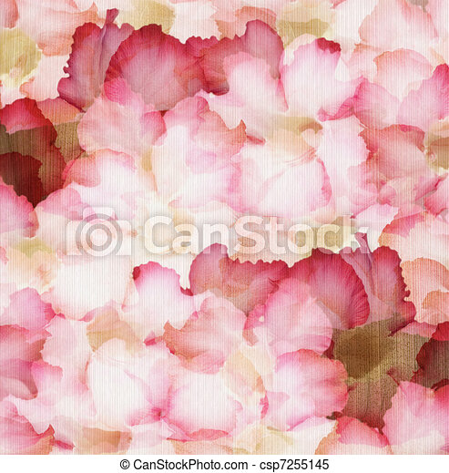 Cloud Pink And Red Desert Rose Petals On Ribbed Natural Paper