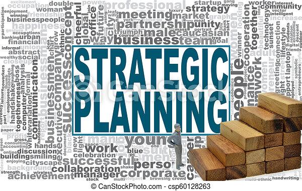 Una nube de planificación estratégica. - csp60128263