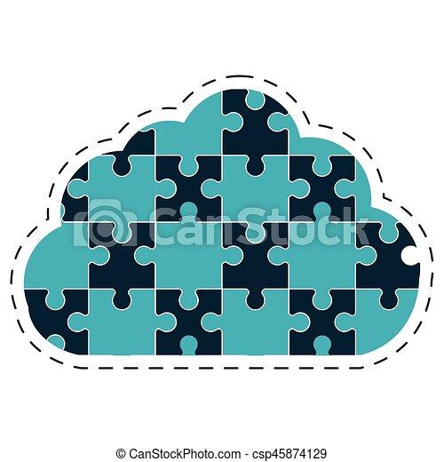 cloud puzzle solution image - csp45874129