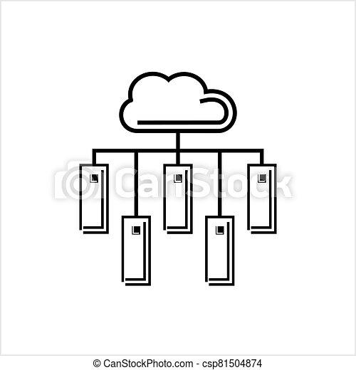 Cloud Server Icon - csp81504874