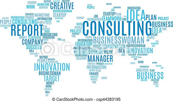 cloud tags of marketing business words world map csp44383195
