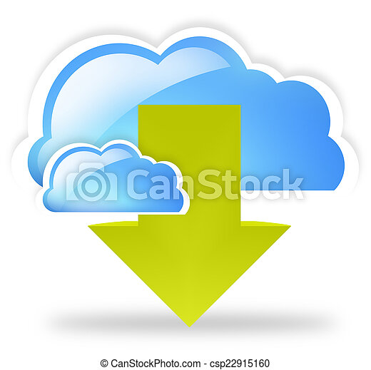 cloud up and download blue symbol symbol - csp22915160