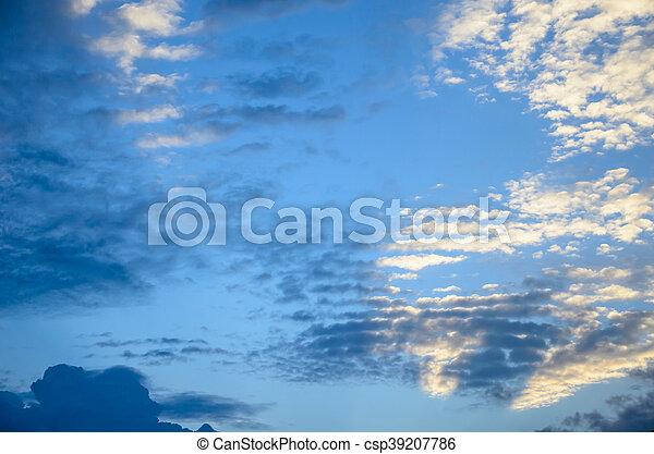 cloud with blue sky - csp39207786