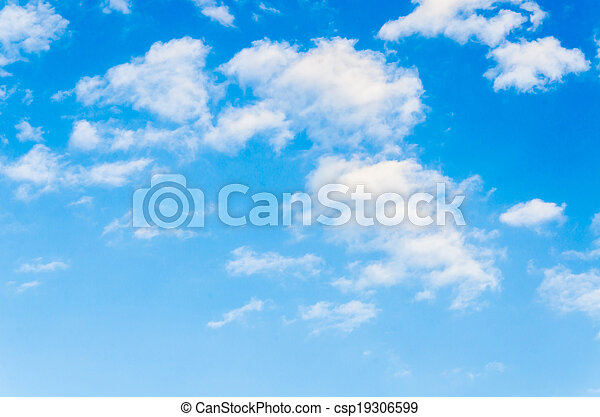Cloud with sky background - csp19306599