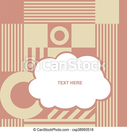 cloud with various item on color background - csp38993516