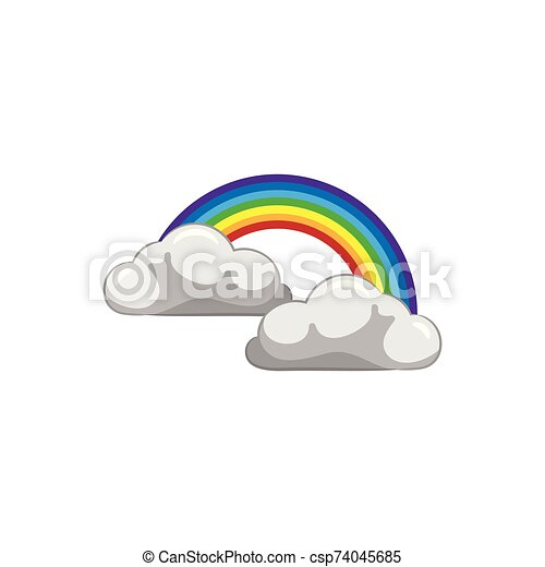 Clouds and Rainbow - csp74045685