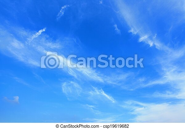 Clouds and sky - csp19619682