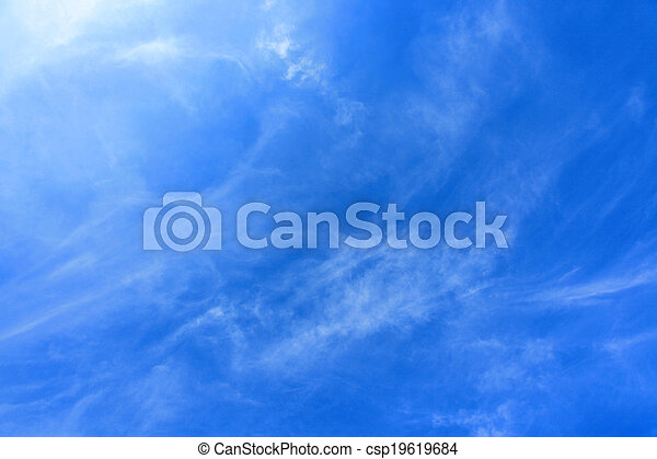 Clouds and sky - csp19619684