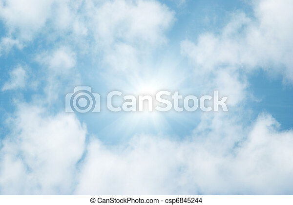 Clouds and sky - csp6845244