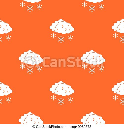 Clouds and snow pattern seamless - csp49980373