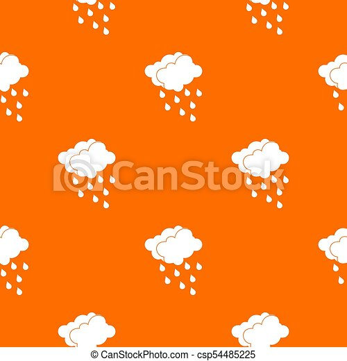 Clouds and water drops pattern seamless - csp54485225