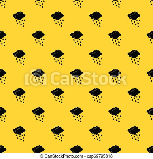 Clouds and water drops pattern vector - csp69795818