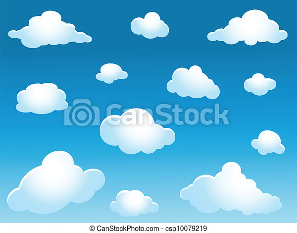 clouds collection - csp10079219