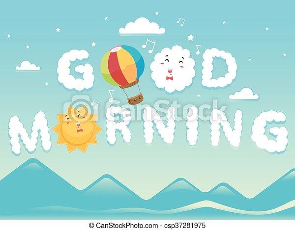 Clouds Good Morning - csp37281975