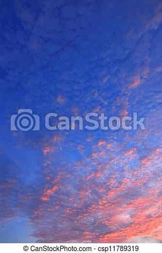 clouds in blue sky - csp11789319