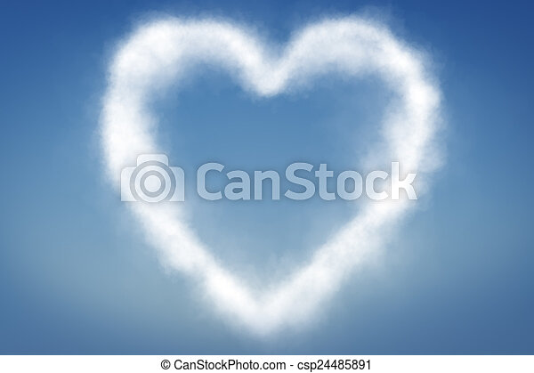 clouds in shape of a heart - csp24485891