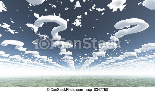 Clouds in shape of question marks - csp10347750