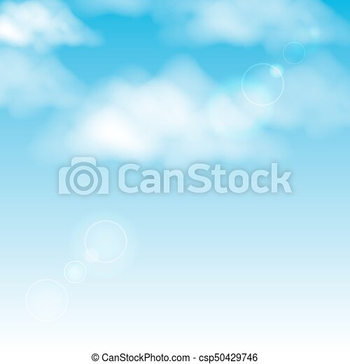 Clouds in the blue sky background - csp50429746