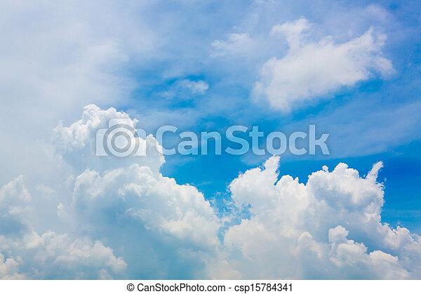 clouds in the blue sky - csp15784341