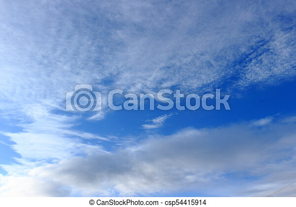 Clouds on blue sky background - csp54415914