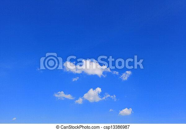 Clouds on blue sky - csp13386987